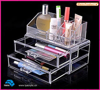 Unique Home 2 Piece Acrylic Beauty Store Nail Polish Bottle Holder Crystal Clear Makeup Cosmetic Display Stand Wholesale