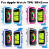Factory Wholesale Colorful Soft Gel Silicon Case Ultra thin Clear TPU Protective Cover For Apple Watch 42mm 38m Good Quality