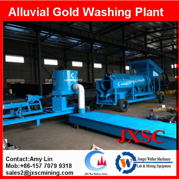 small mobile sand gold wash plant gold scrubber washer