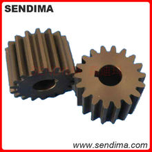 OEM customized various material size mc nylon spur gears injection nylon66 PA6 small plastic wheel gear (Green/Black)