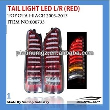 toyota hiace body parts tail light LED(RED) NEW MODEL #000733 tail light led for hiace 2005-2013,hiace200 commuter parts