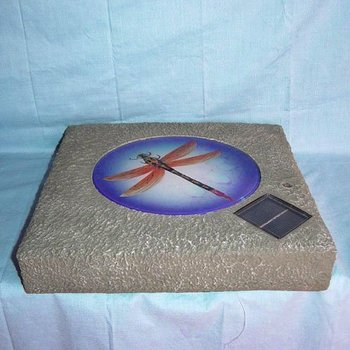Solar stepping stone light buy solar light product on for Solar powered glow stepping stones