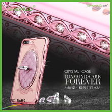 Shengo Luxury Crystal Rose Gold Electroplating TPU Ring Holder Phone Cases and Covers for iPhone 5s