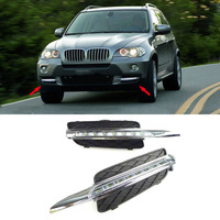 Car Fog Lamp 12V LED DRL Daytime Running Light For BMW X5 E70 2007 2008 2009 2010