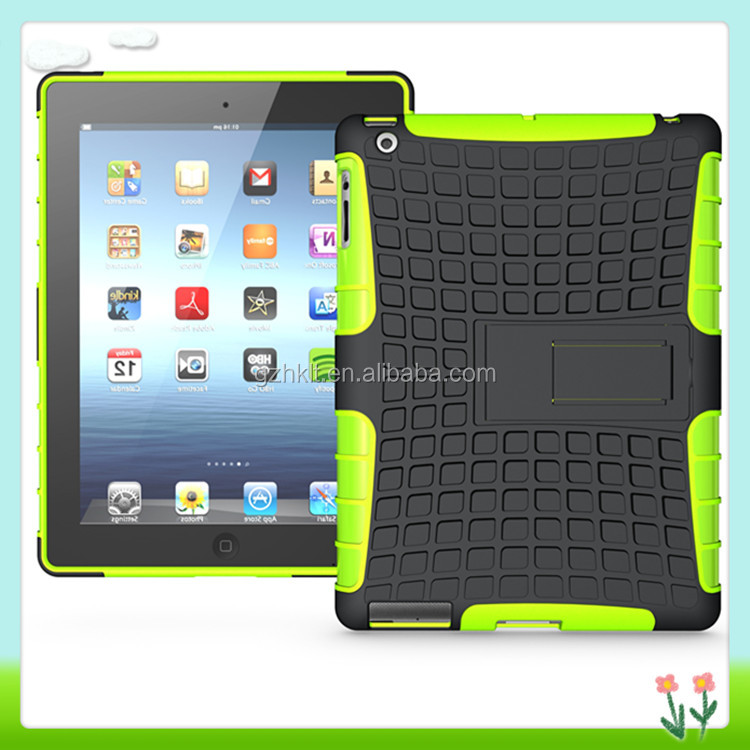 Colorful 2-in-1 Back Case With Stand For iPad 2/3/4 Cover Case