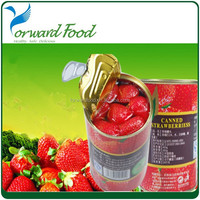 314ml N.W 280G canned whole strawberry fruit for distributor