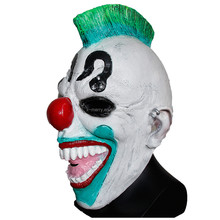 X-MERRY Creepy Evil Scary Clown Latex Mask Halloween Cosplay Costume Fancy Dress