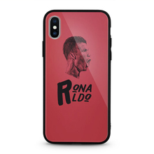 Football Portugal Star Cristiano Ronaldo CR7 Tempered Glass Phone Case for iPhone XS max