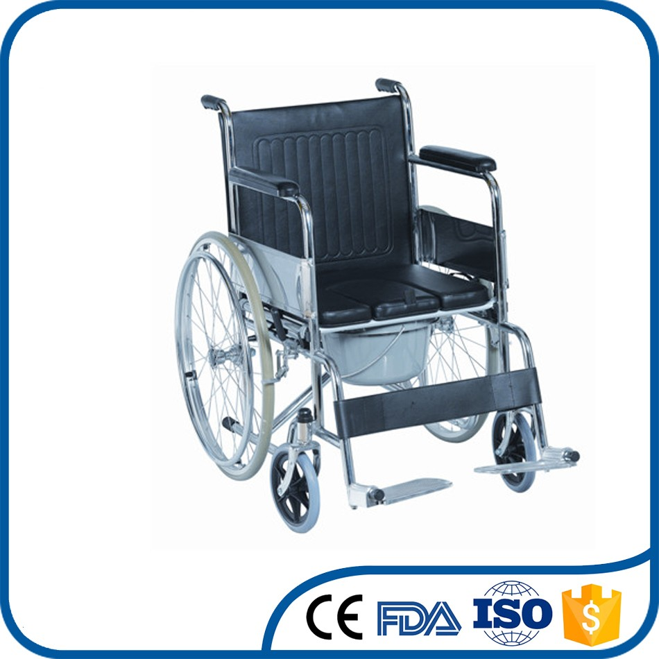 OEM orders acceptable convenient to use aluminum wheelchair with toilet