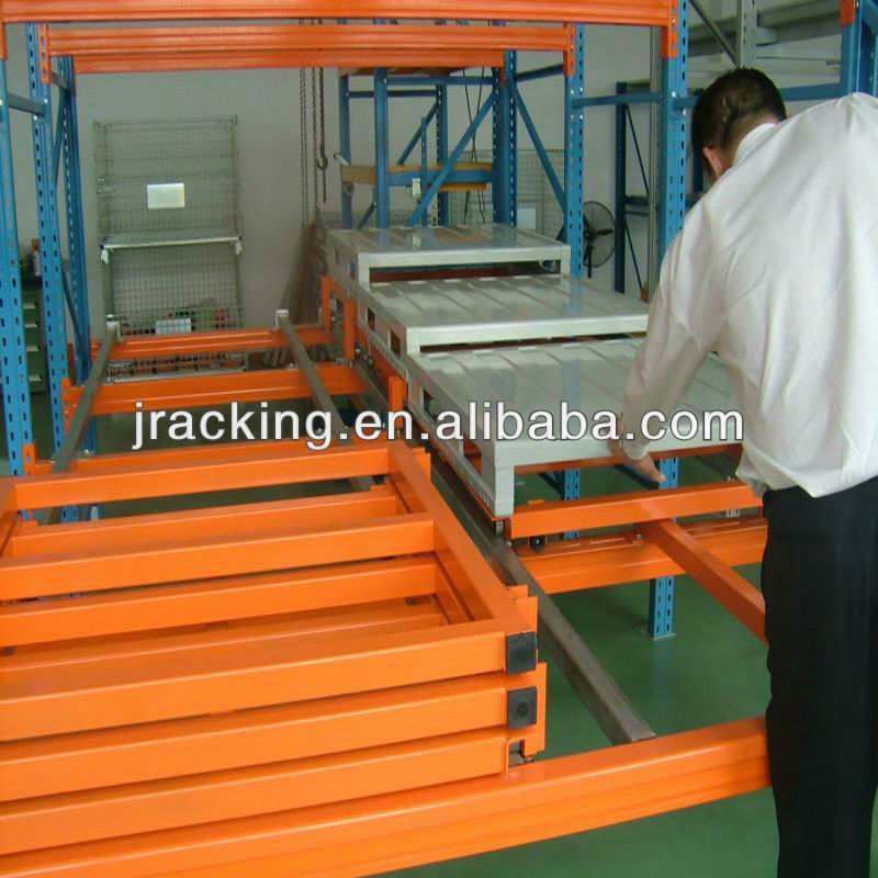 Mechanical warehouse equipment,Industrial automation storage racking warehouses push back rack