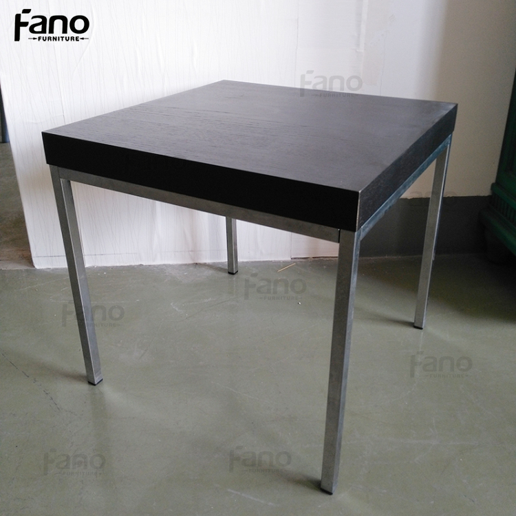 wooden top stainless steel legs cheap small side sofa coffee tables