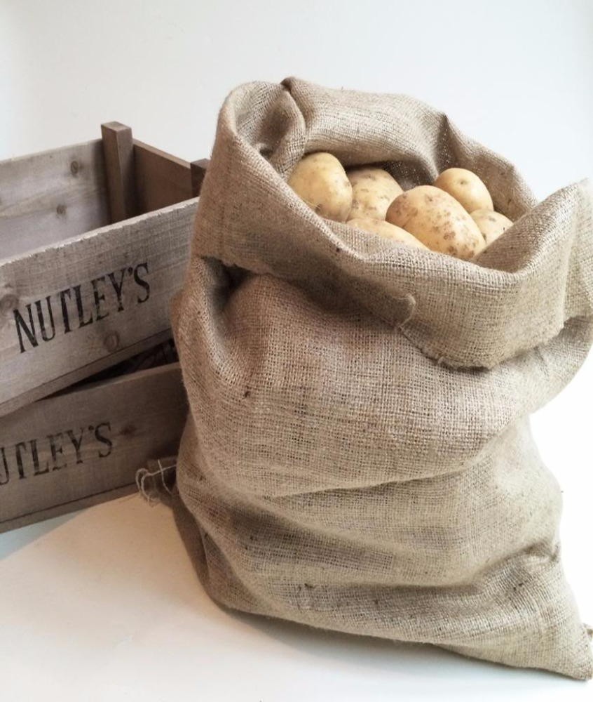breathable custom size jute burlap potato sacks make in china