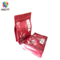 Flat Bottom Aluminum Foil Ziplock Food Packaging Bags