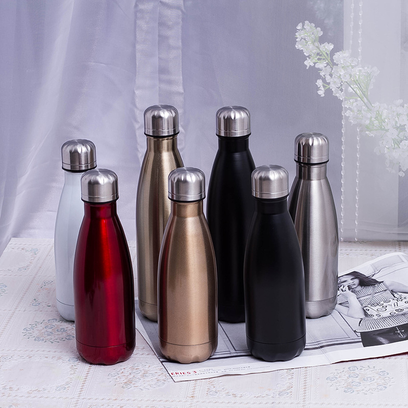 Fashionable vacuum stainless steel bottle portable outdoor sports bowling bottle