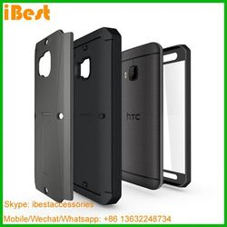 iBest factory direct sell price shock proof case for HTC One M9, armor case for htc one m9