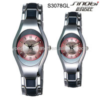 Japan SEIKO quartz movt fashion couple watch with alloy band