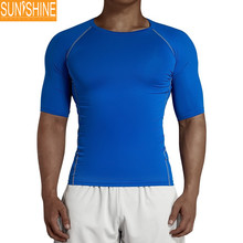 body shaper slimming sport wear men fitness Tight shirt Factory Price