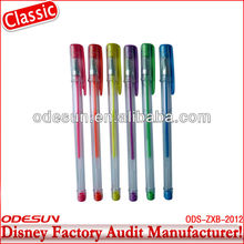Disney Universal NBCU FAMA BSCI GSV Carrefour Factory Audit Manufacturer Promotional Color Gel Pen Set For OEM