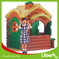 Indoor Jungle Play House Cartoon Style Cheap Kids Plastic Playhouse