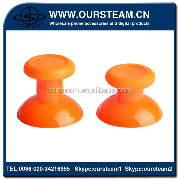 Solid Orange Color Buttons Replacement for PS4 Thumbstick For Playstation 4 Controller