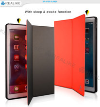"For iPad air 2 Factory price leather Smart magnetic cover 9.7"" tablet case"