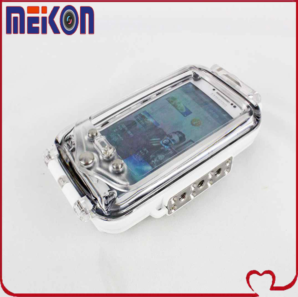 Meikon 40m/130ft deap water resistant phone case for Samsung Galaxy S3/S4, better viewing underwater and outdoor