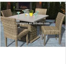 2017 Trade Assurance Leisure ways beautiful synthetic rattan material discount patio poly furniture sets sale dining table set