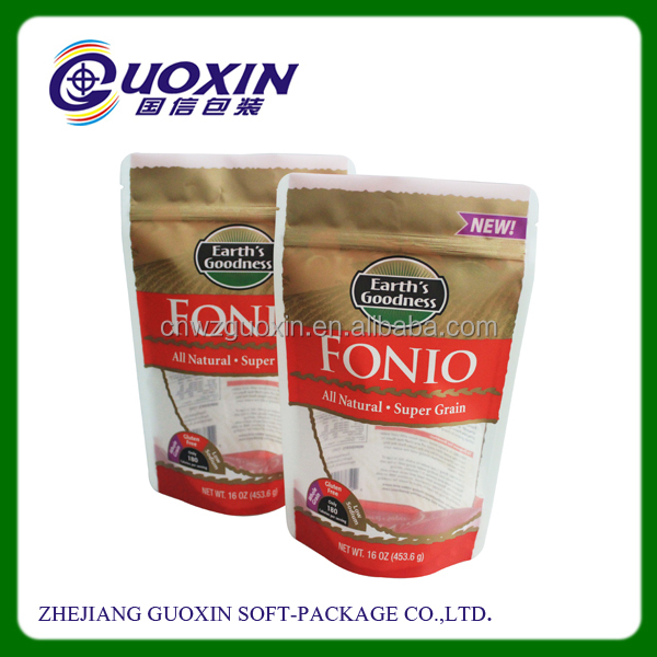 China wholesale pe stand up plastic zipper bag