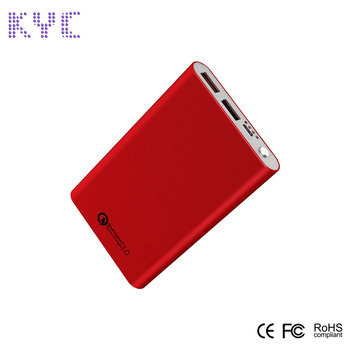 Lithium Polymer Aluminum Dual USB Power Bank