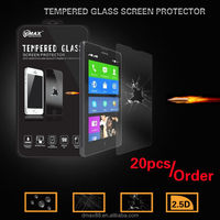 9H hardness scratch resistant anti shock clear gold mobile tempered glass screen guard for Nokia x