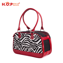 Manufacturer cheap high quality pet stripe carrier for dogs rabbits wholesale pet leopard bag