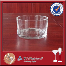 Wholesale high white 4 inch glass candle holders