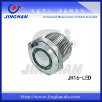 JH16-LED 16mm stainless steel led illuminated pushbutton switch