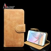 New products Flip Leather Wallet Case For Samsung Galaxy s6 case cover
