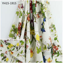 Factory customized mess woven crepe chiffon fabric floral