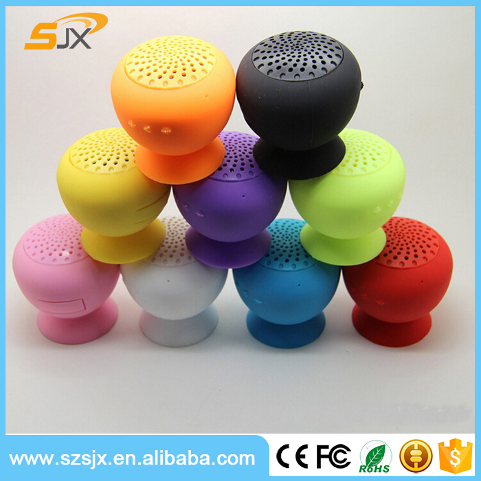 Silicone Speaker with Stand Holder , Wireless Mini Suction Cup Bluetooth Speaker