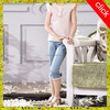 Girl's jeans pants, kids short jeans pants, wholesale price