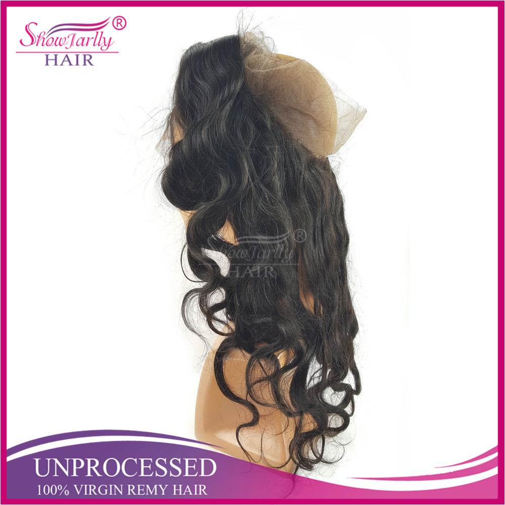 Hot sale glueless wigs free part lace frontal closure 360 frontal hair adjustable strap with natural hair line