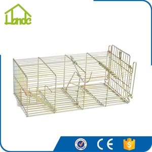 Humanzation Small Animal Live Trap Cage with Easy Operation