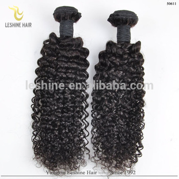 New Products Good Feedback Best Quality Brazilian Remy Human Hair Kinky Curly Weave