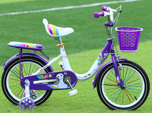 2017 new model cute girl bicycle with four wheels training safety bike