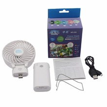 Mini Usb Hand Rechargeable Battery Operated Cheap Price Table Fan with Power Bank