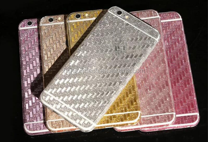 2016 New Knitting Fiber 360 Full body Glitter Phone Sicker for iPhone6s 6s plus Screen Protective Film for iPhone6 6plus 5 5s