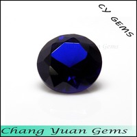 Dark blue color synthetic spinel gems
