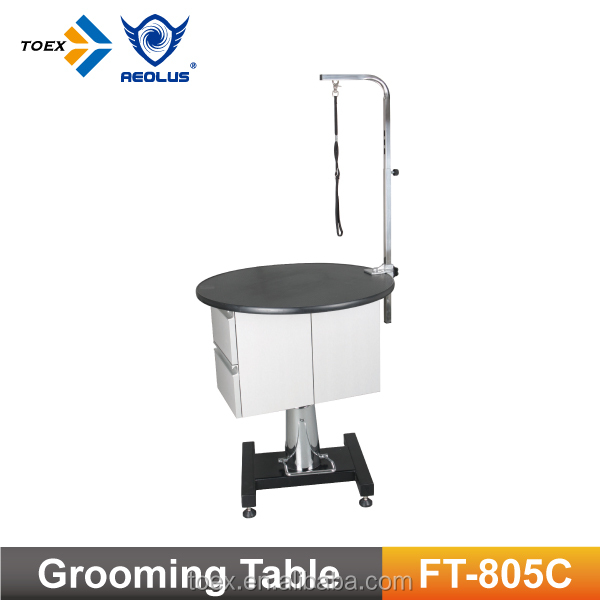 Hydraulic Pet Grooming Table with Cabinet
