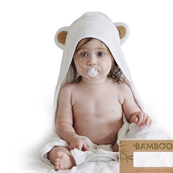Bamboo Hooded baby bath towel with customized logo