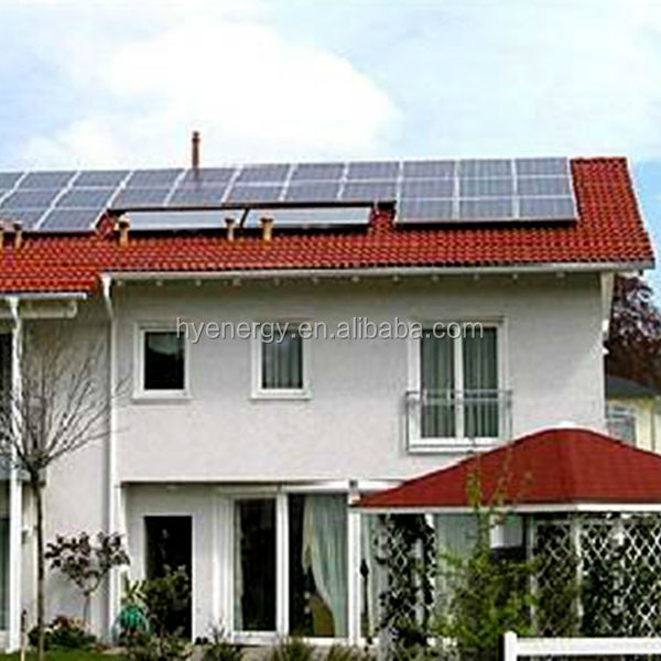 HYE residential customized high efficienct 10KW solar off grid system