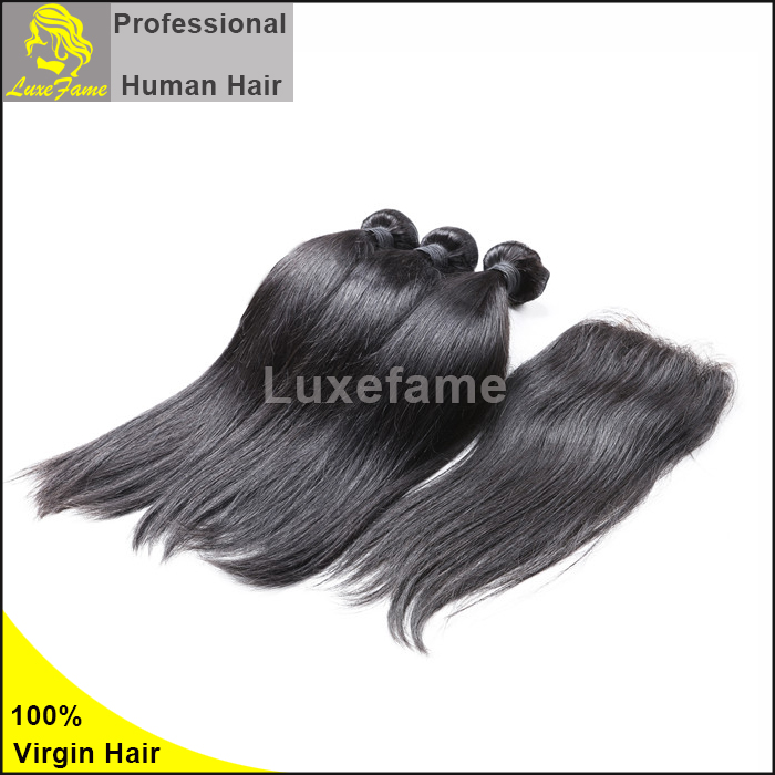 Luxefame Alibaba Wholesale Cheap Indian/ Brazilian/ Peruvian/ European Remy Human Hair Silky Straight Hair