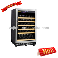JF-54T Loading 54-bottle Antique Wood Wine Cooler
