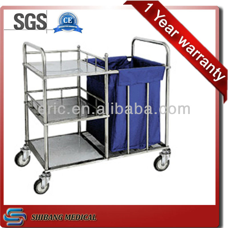 SJ-SS010 2015 newest linen multifuction Hospital cleaning trolley -Medical Instrument Surgical Trolley